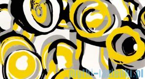 Dekor ścienny Tubądzin Colour Hoop Yellow 32,7x59,3