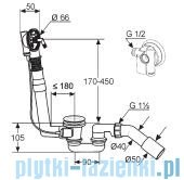 Kludi Rotexa Multi Zestaw odpływowo-przelewowy G1 1/2 chrom 2131500-00