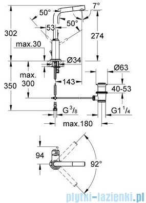 Grohe Atrio bateria umywalkowa DN 15 chrom 32129001