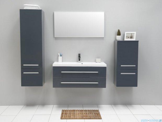 Antado Variete szafka z umywalką, wisząca z dwiema szufladami 100cm szary połysk FM-C-442/10/2GT-K917 + UMMC-1000X390