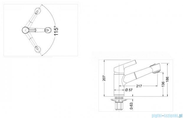Blanco Elipso-s II  bateria wysokociśnieniowa kolor: alumetalik 514852