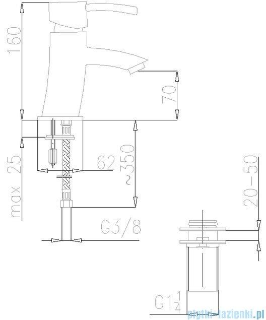 KFA Diament bateria umywalkowa, kolor chrom 4102-811-00