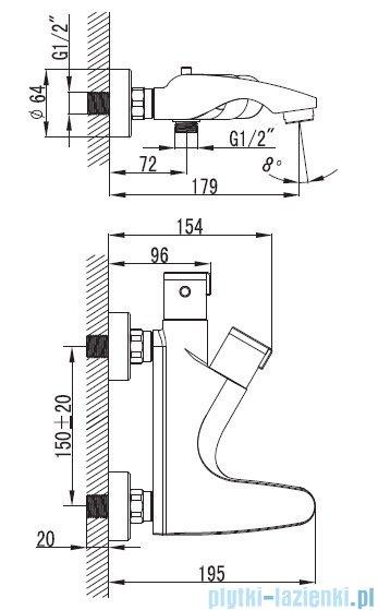 Art Platino Term bateria wannowa termostatyczna chrom TER-BWNT.020C