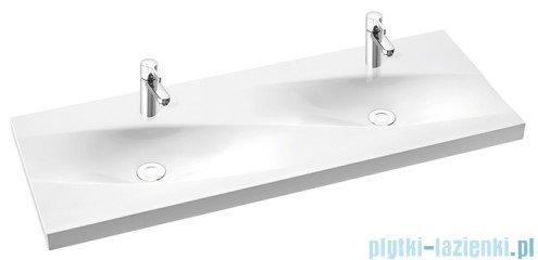 Marmorin Noel 1200 duet umywalka wpuszczana w blat 120x45 bez przelewu i bez otworu na baterie biała 583120020010