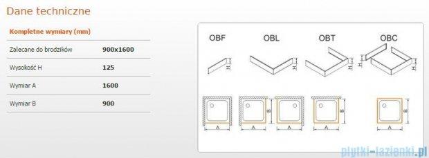Sanplast Obudowa brodzika OBL 90x160x12,5 cm 625-401-1590-01-000