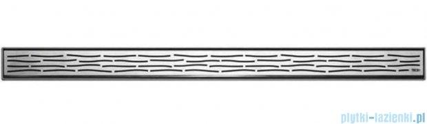 Tece Ruszt prosty Organic ze stali nierdzewnej Tecedrainline 80 cm stal szczotkowana 6.008.61