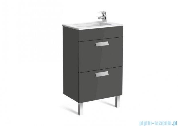 Roca Debba Unik Compacto 50 zestaw łazienkowy z 2 szufladami szary antracyt A855904153