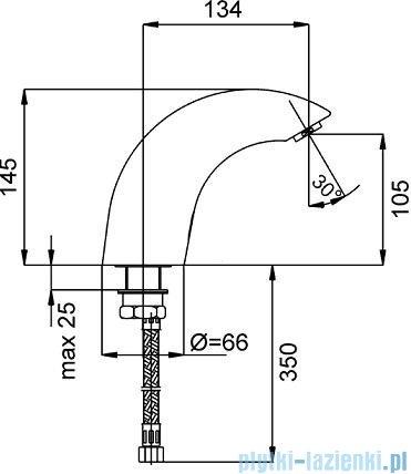 KFA Bateria specjalna bezdotykowa umywalkowa stojąca chrom 592-000-00
