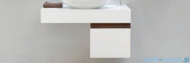Antado Combi szafka lewa z blatem i umywalką Conti biały/ciemne drewno ALT-141/45-L-WS/dp+ALT-B/4C-1000x450x150-WS+UCT-TP-37x59