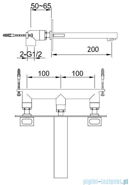 Kohlman Nexen Podtynkowa bateria umywalkowa QW198U