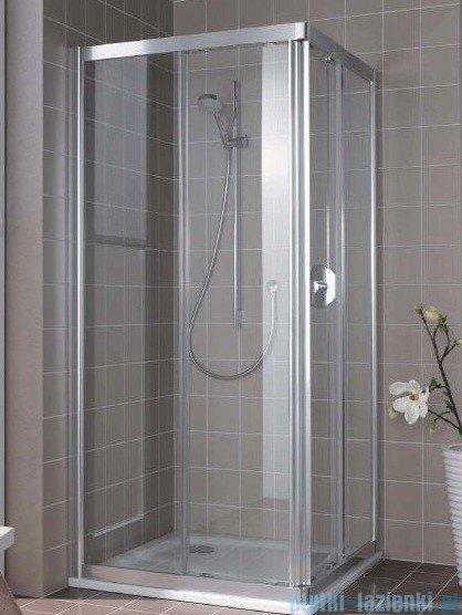 Kermi Atea Wejście narożne prawe, połowa kabiny, szkło przezroczyste, profile srebrne 90x200cm ATC2R09020VAK