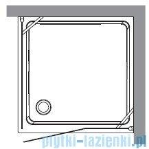Kerasan Kabina kwadratowa lewa, szkło piaskowane profile złote 100x100 Retro 9150S1