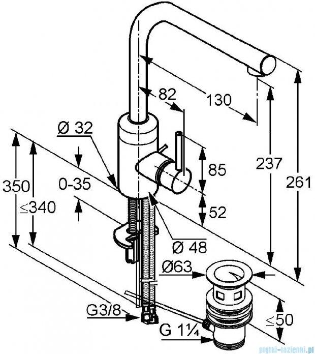 Kludi Bozz Jednouchwytowa bateria umywalkowa DN 10 chrom 382940576