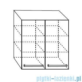 Antado Spektra Szafka wisząca górna 60x20x72 fino grafit FDF-428/46