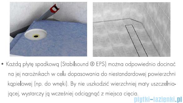Schedpol brodzik posadzkowy podpłytkowy z odpływem Circle 100x90x5cm 10.010/OLDB/CE
