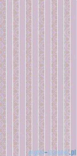 Paradyż Piumetta viola paski inserto ścienne 29,5x59,5