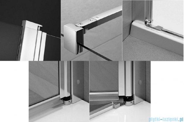 Radaway Eos II KDS kabina prysznicowa 90x90 prawa szkło przejrzyste + brodzik Delos C + syfon 3799481-01R/3799411-01L/SDC0909-01