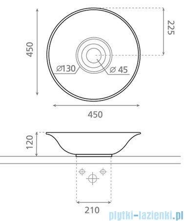 Bathco umywalka nablatowa Cuenca 45x12 cm 4033