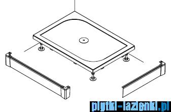 SanSwiss PWIL Obudowa brodzika 2-stronna 80x160cm biała PWIL08016004