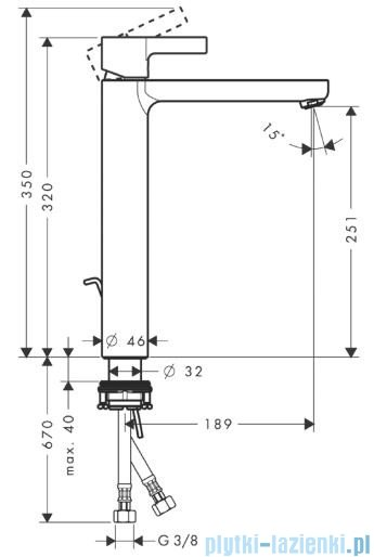 Hansgrohe Metris S Jednouchwytowa bateria umywalkowa do misek umywalkowych 31022000