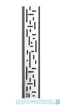 Tece Ruszt prosty Lines ze stali nierdzewnej Tecedrainline 100 cm stal szczotkowana 6.010.21