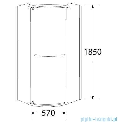 Sea Horse Sigma kabina natryskowa narożna półokrągła, 90x90x185 cm przejrzyste BK002/1/R