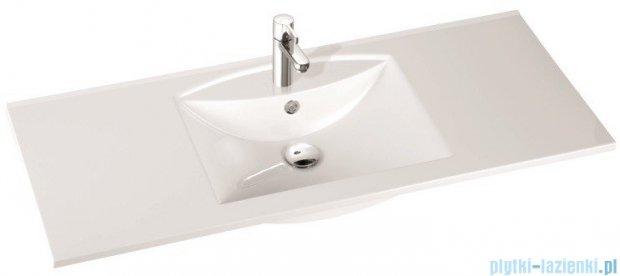 Marmorin umywalka nablatowa Larissa 120 cm z otworem biała 300120022011