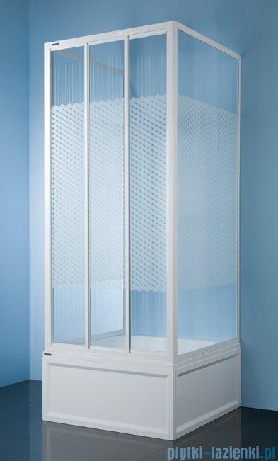 Sanplast kabina przyścienna kwadratowa KT/DTr-c-80 szkło: Sitodruk W4 600-013-0921-01-410