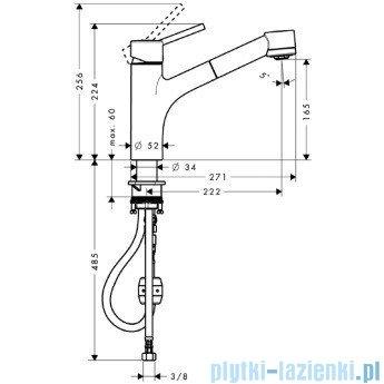 Hansgrohe Talis S Jednouchwytowa bateria kuchenna DN15 32841000