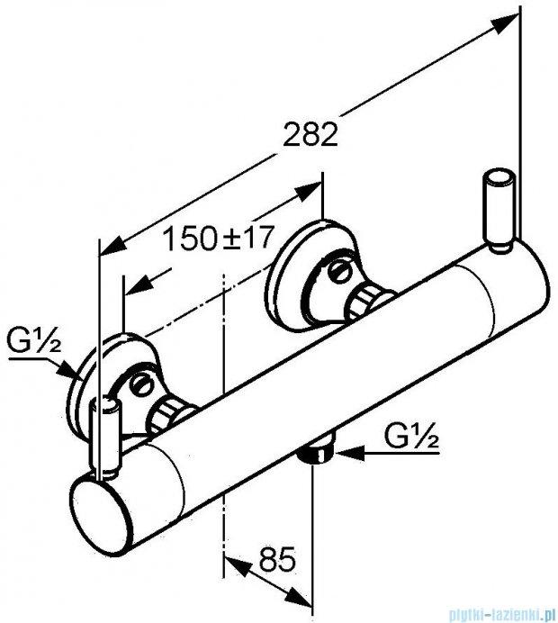 Kludi Provita Termostat Bateria natryskowa z termostatem DN 15 chrom 353300538