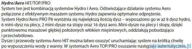 Riho Geta Wanna asymetryczna 160x90 prawa z hydromasażem TOP Hydro 6+4+2/Aero11 BA86T5