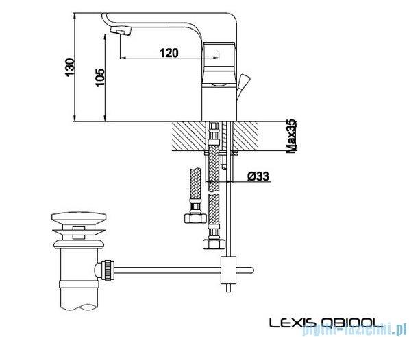 Kohlman Lexis bateria umywalkowa QB100L