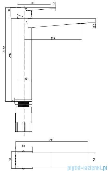 Omnires Fresh Bateria umywalkowa wysoka chrom FR7112