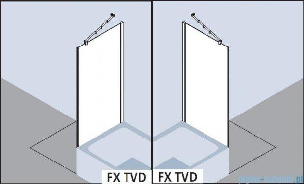 Kermi Filia Xp Ściana boczna skrócona obok wanny, szkło przezroczyste, profile srebrne 100x175cm FXTVD10017VAK