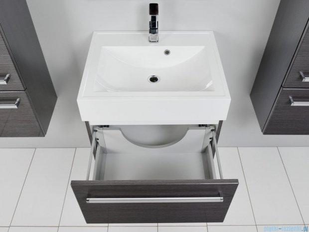 Antado Spektra szafka z umywalką, wisząca 60x50x33 grafit połysk FDF-442/6GT-46 + UNA-600