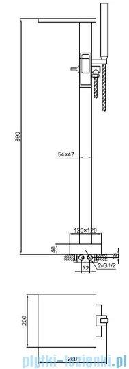 Kohlman Nexen Bateria wannowa wolnostojąca chrom QF1165U