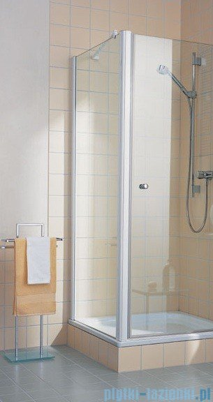 Kermi Atea Ściana boczna, szkło przezroczyste, profile białe 120x200cm ATTWD120202AK