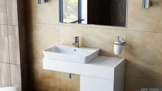 Antado Combi szafka lewa z blatem lewym i umywalką Bali biały/jasne drewno ALT-141/45-L-WS/dn+ALT-B/2L-1000x450x150-WS+UCS-TC-65