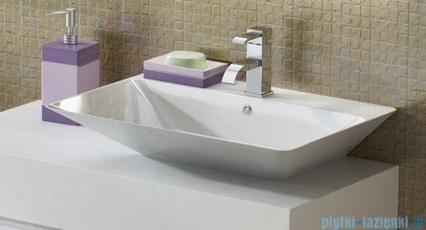 Antado Combi szafka z blatem prawym i umywalką Libra biały ALT-140/45GT-WS+ALT-B/3R-1000x450x150-WS+UCS-TC-66