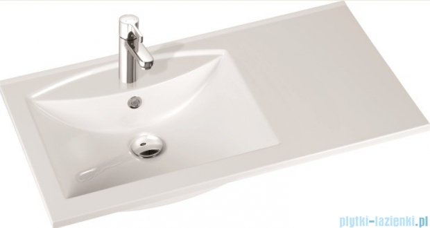 Marmorin Larissa 90L umywalka nablatowa lewa z otworem biała 300090720011