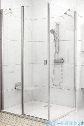 Ravak Chrome Prysznicowa ścianka stała CPS-90 biała+transparent 9QV70100Z1
