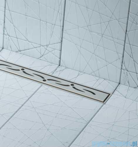 Schedpol brodzik posadzkowy podpłytkowy z odpływem Slim Lux Stamp 80x80x5cm 10.101/OLSP
