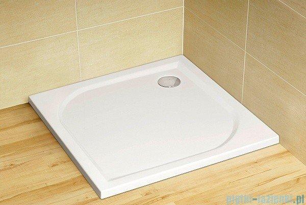Radaway Eos KDJ-B kabina prysznicowa 90x90 prawa szkło przejrzyste + brodzik delos C + syfon 37403-01-01NR