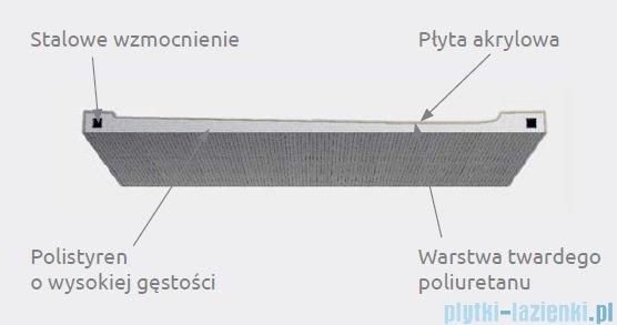 Radaway Doros Plus D Brodzik prostokątny 130x90x5cm SDRPD1390-01