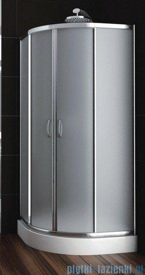Aquaform Nigra kabina prysznicowa półokrągła 80x80x167cm chrom szkło satinato 100-091122P