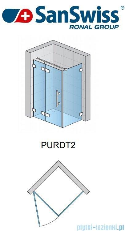 SanSwiss Pur PURDT2 Ścianka boczna 30-100cm profil chrom szkło Master Carre PURDT2SM21030