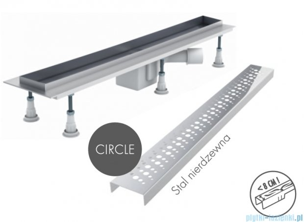 Schedpol odpływ liniowy z maskownicą Circle 100x8x9,5cm OLCE100/ST