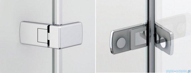 Sanswiss Melia MEF Kabina Walk-In z uchwytami i profilem lewa do 90cm przejrzyste MEFAGSM11007