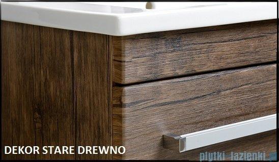 Antado Spektra ceramic szafka z umywalką 2 szuflady 82x43x50 stare drewno FDF-AT-442/85/2GT-50+UCS-AT-85