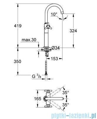 Grohe Atrio jednootworowa bateria umywalkowa DN 15 chrom 21044000
